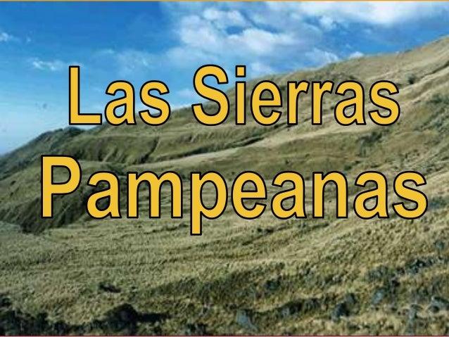 Las sierras pampeanas 3ro c sec