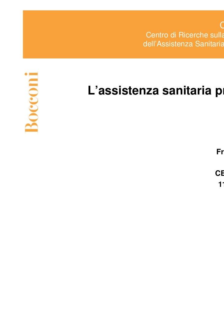 L'assistenza sanitaria privata in italia