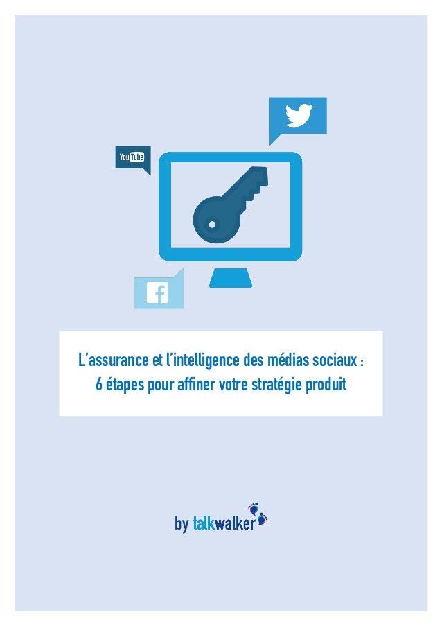 1 L'assurance et l'intelligence des médias sociaux : 6 étapes pour affiner votre stratégie produit by