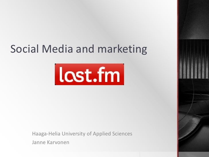 Social Media and marketing<br />Haaga-Helia University of Applied Sciences<br />Janne Karvonen<br />