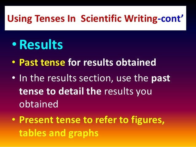 mla format research paper tense Because there are many different formats for annotated bibliographies, it is for example, mla usually uses present tense evaluative entry (mla format.