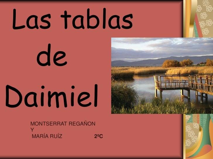 Las tablas   de Daimiel  MONTSERRAT REGAÑON  Y  MARÍA RUÍZ        2ºC