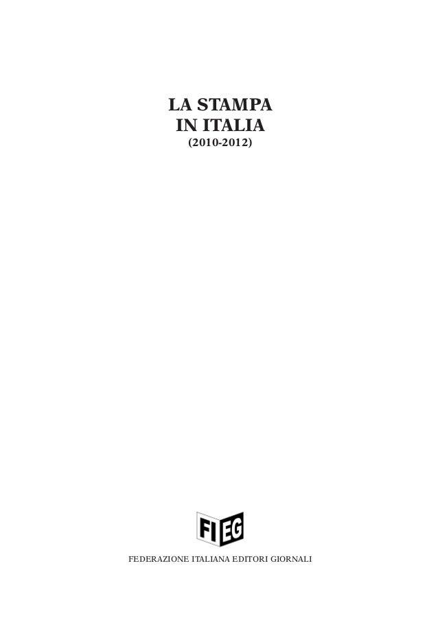 La stampa in italia 2010 2012