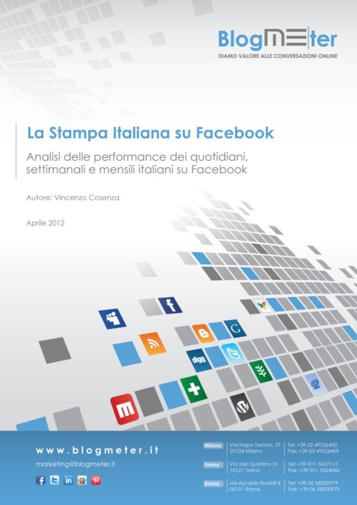La stampa italiana su Facebook: il paper