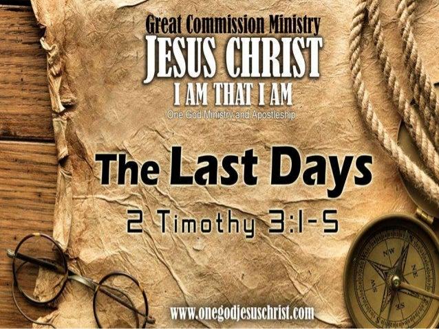 II Timothy 3:1-51. Datapuwatalamin mo ito,na sa mgahuling araw aydarating angmga panahongmapanganib.1. This knowalso, that...