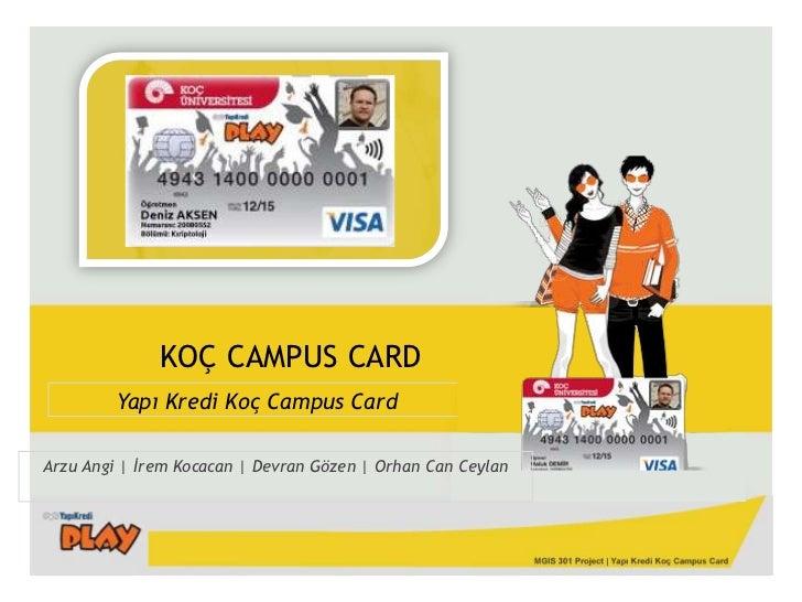 KOÇ CAMPUS CARD<br />Yapı Kredi Koç CampusCard<br />Arzu Angi | İrem Kocacan | Devran Gözen | Orhan Can Ceylan<br />