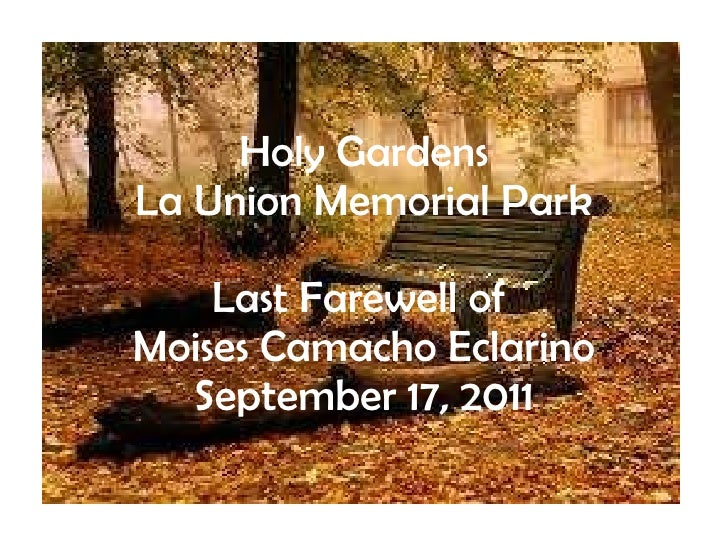 Last farewell of moises eclarino at holy gardens la union memorial park