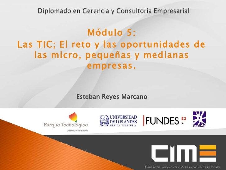 Módulo 5:Las TIC; El reto y las oportunidades de   las micro, pequeñas y medianas               empresas.            Esteb...