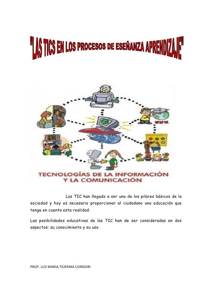 Las TIC han llegado a ser uno de los pilares básicos de la sociedad y hoy es necesario proporcionar al ciudadano una educa...