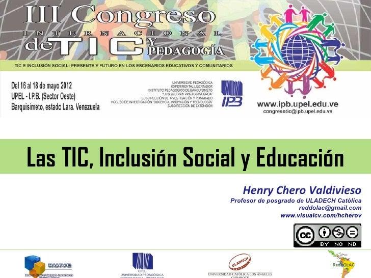 TIC, Inclusión Social y Educación
