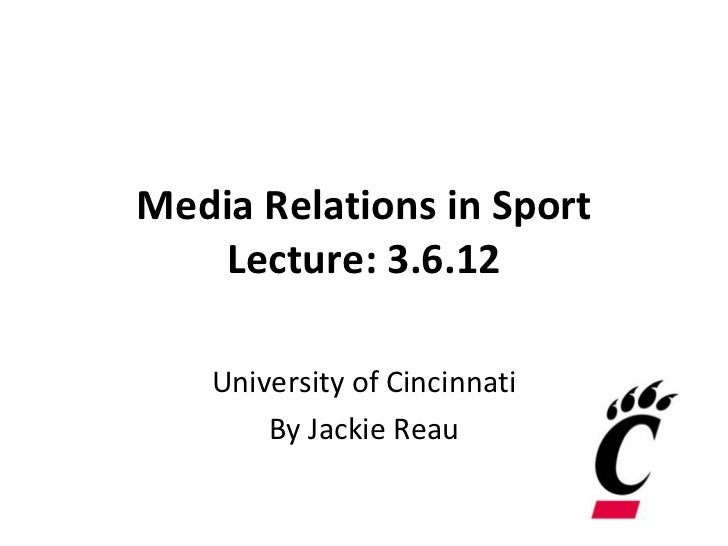 Media Relations in Sport: March 6, 2012