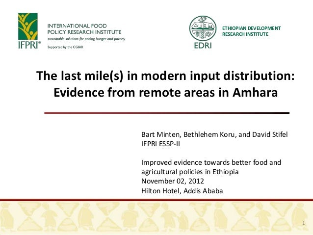 The last mile(s) in modern input distribution
