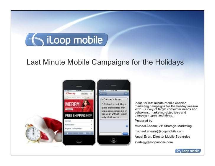 Last Minute Mobile Campaigns for the Holidays                     MDA Men's Stores                     Gift idea for dad: ...
