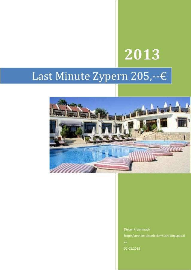 2013Last Minute Zypern 205,--€                 Dieter Freiermuth                 http://sonnenreisenfreiermuth.blogspot.d ...