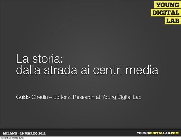 La storia:             dalla strada ai centri media              Guido Ghedin – Editor & Research at Young Digital Labvene...