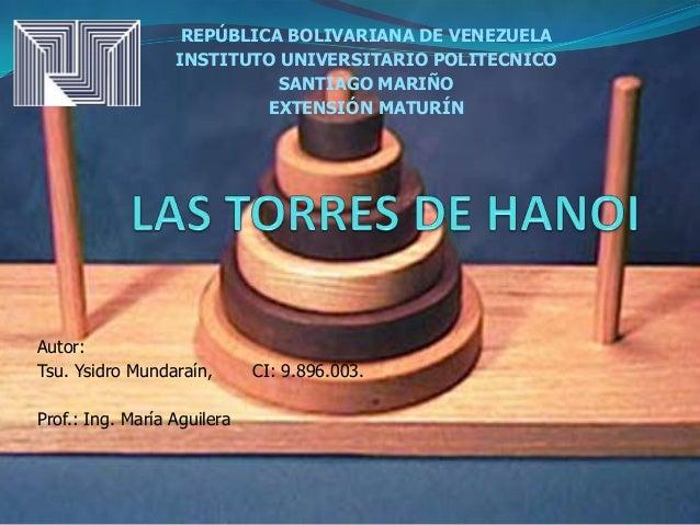 REPÚBLICA BOLIVARIANA DE VENEZUELA                  INSTITUTO UNIVERSITARIO POLITECNICO                            SANTIAG...