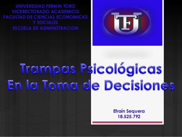 UNIVERSIDAD FERMIN TORO   VICERECTORADO ACADEMICOFACULTAD DE CIENCIAS ECONOMICAS            Y SOCIALES   ESCUELA DE ADMINI...