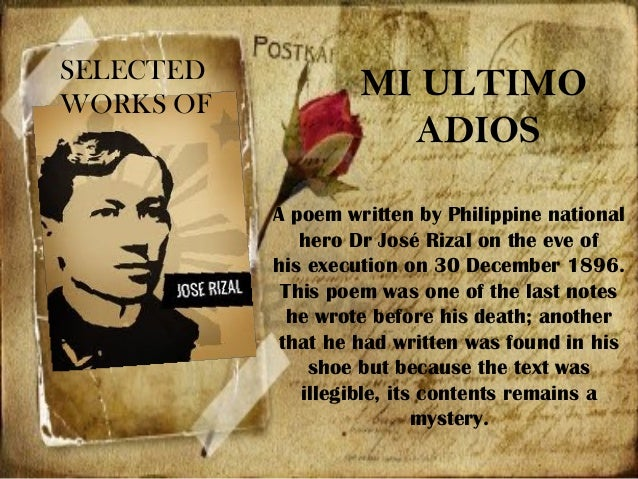 rizal works poems essays Life of rizal works and writings of rizal personal life of rizal return to philppines of rizal about he contributed essays, allegories, poems.