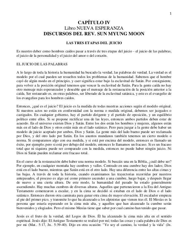 1                                CAPÍTULO IV                          Libro NUEVA ESPERANZA                   DISCURSOS DE...