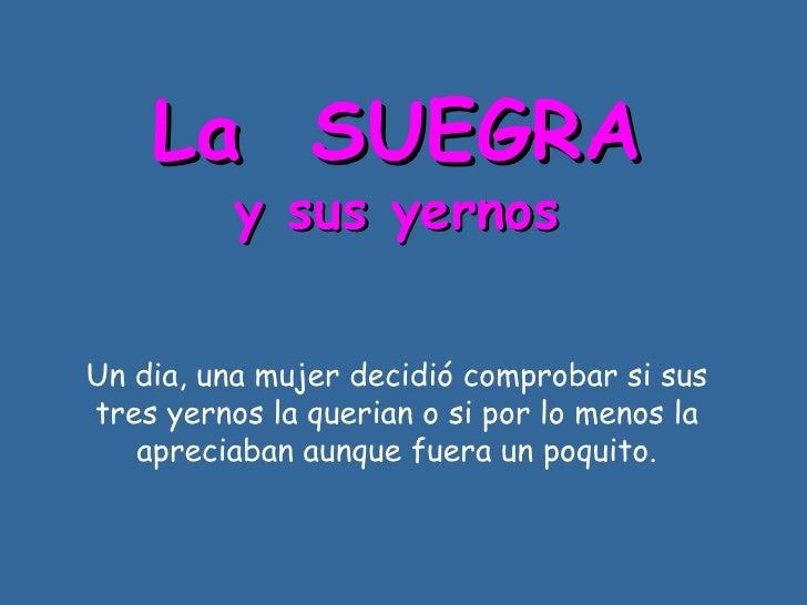 Suegras Y Yerno