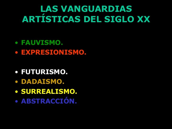 Las vanguardias art sticas del siglo xx for Tipos de vanguardias