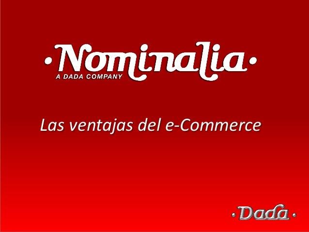 Las ventajas del e-Commerce