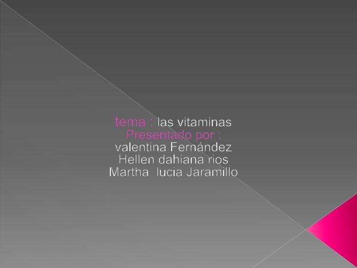    El origen de las vitaminas es muy peculiar ya que se descubrieron a causa de una    enfermedad que afectaba a los mari...