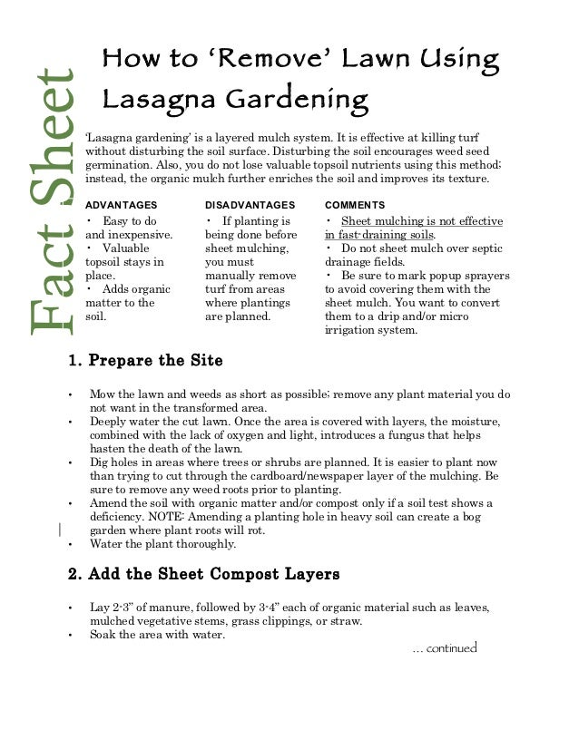 How to Remove Lawn by Using Lasagna Gardening