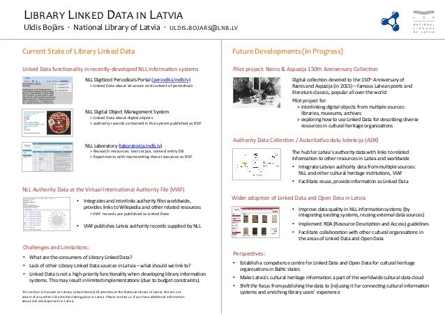 Library Linked Data in Latvia - #LIBER2014 poster