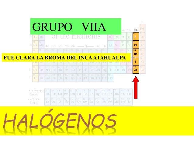 Elementos de laboratorio informe tabla periodica el grupo 7 de la tabla peridica lo comprenden los elementos f flor cl cloro br bromo i yodo at astato urtaz Choice Image
