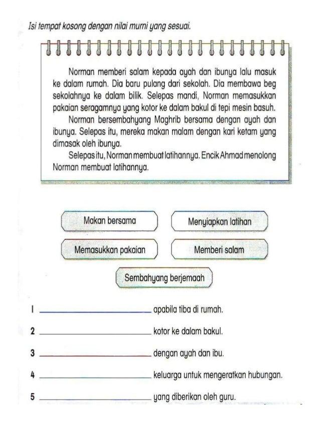 Latihan Penulisan B Melayu Tahun 3