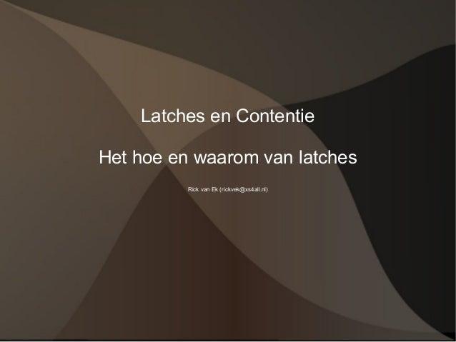 Latches v4