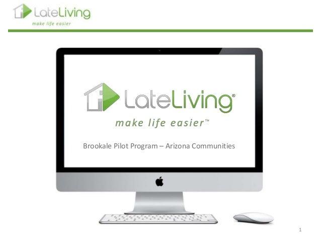 Late living Webinar Brookdale Pilot Program