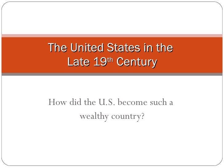 Late 19th Century America