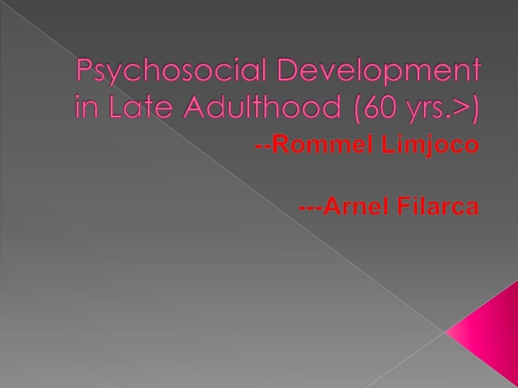 human development from childhood to late adulthood