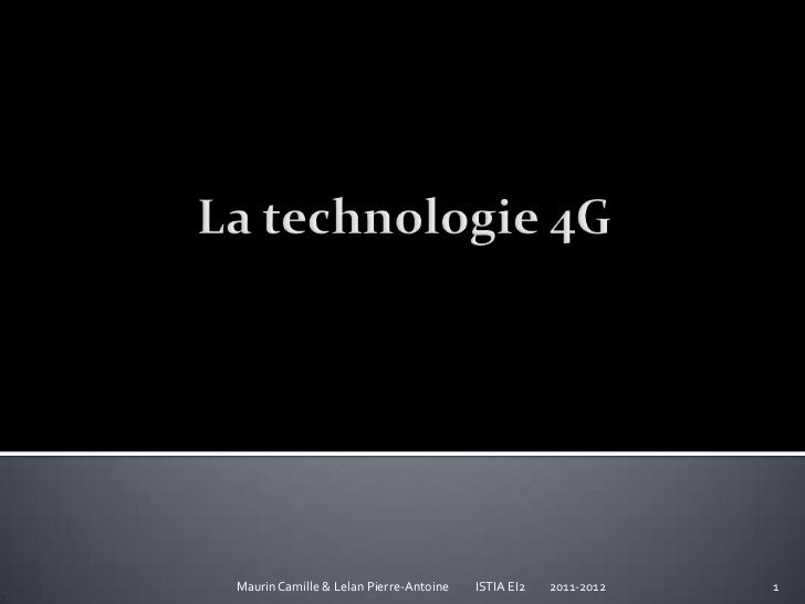 La technologie 4 g2