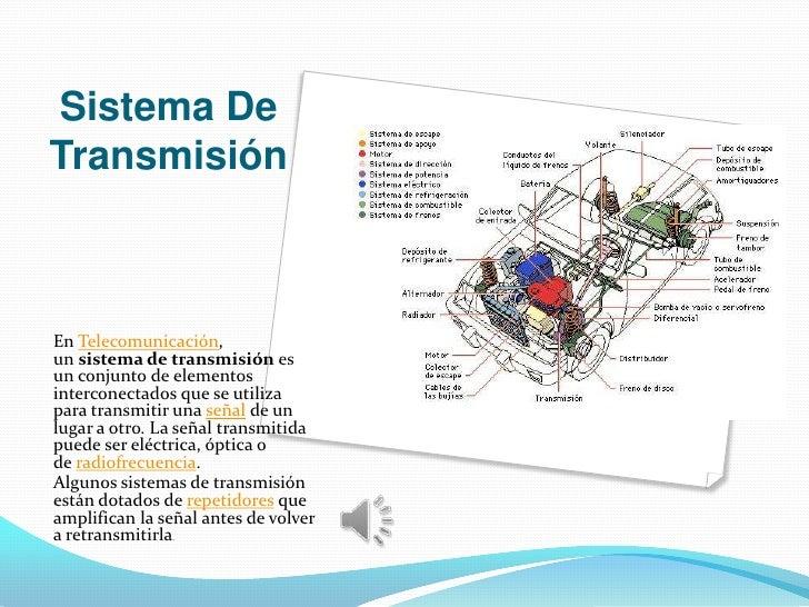 Sistema DeTransmisiónEn Telecomunicación,un sistema de transmisión esun conjunto de elementosinterconectados que se utiliz...