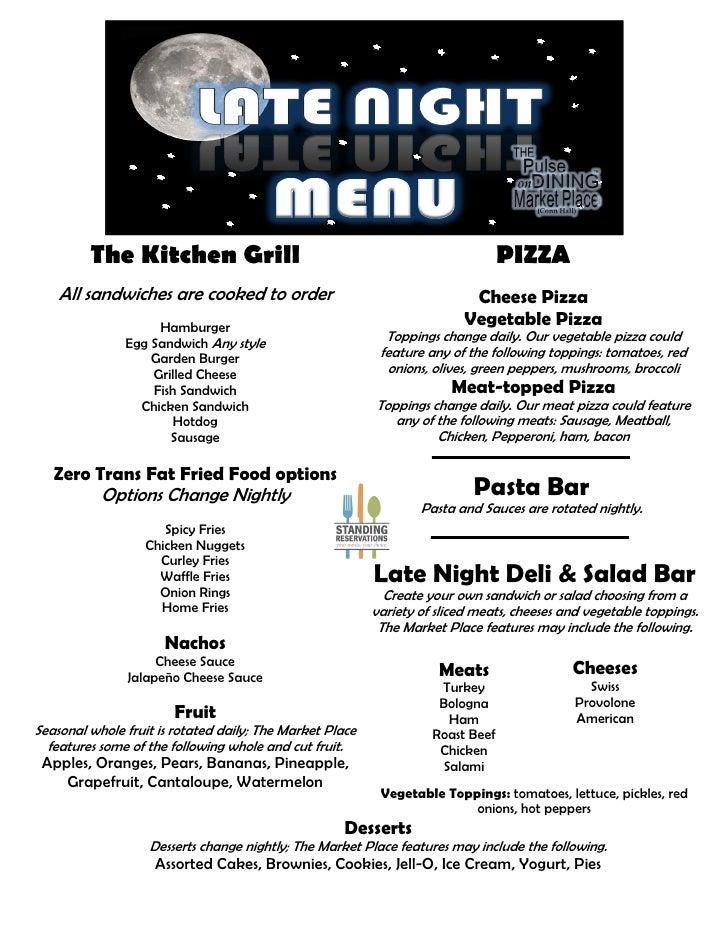 Late night menu pos