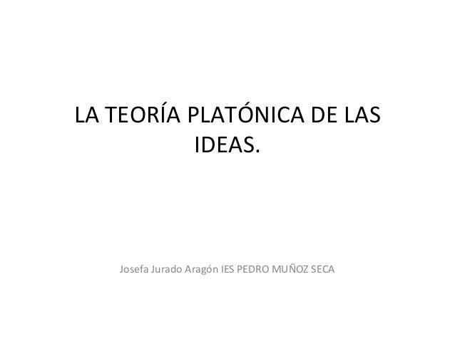 La teor a plat nica de las ideas en la rep blica - Republica de las ideas ...