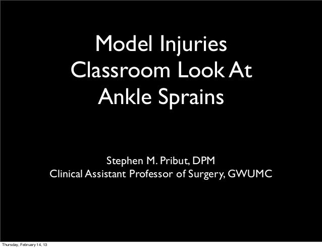 Quick and Simple Look At Lateral Ankle Injuries