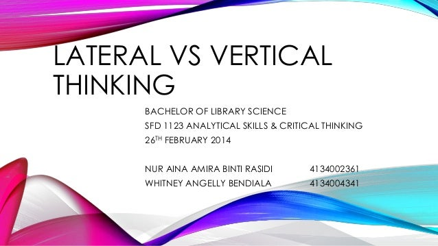 analytical vs critical thinking