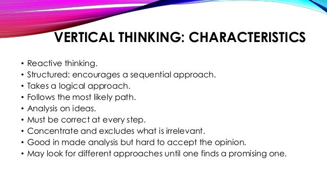 lateral and vertical thinking