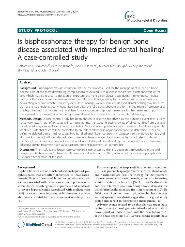 Borromeo et al. BMC Musculoskeletal Disorders 2011, 12:71http://www.biomedcentral.com/1471-2474/12/71 STUDY PROTOCOL      ...