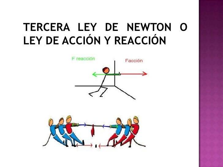 ejemplo de las leyes de newton: