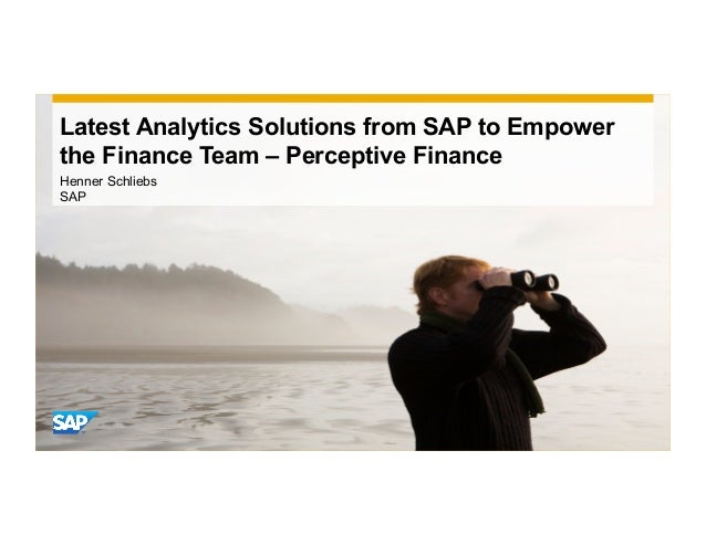 Perceptive Finance – Analytics solutions from SAP for Finance