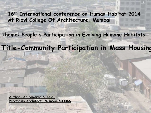 Community  Participation In Cost Effective Housing.