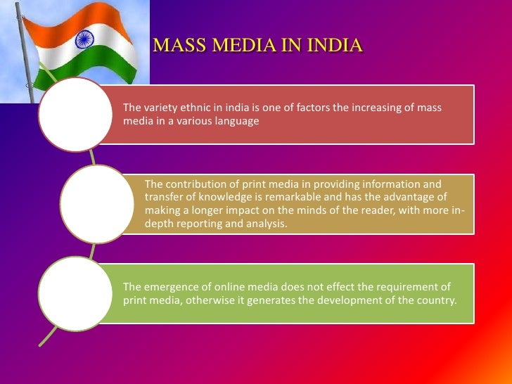 essay on role of print and electronic media Electronic media has become very strong these days electronic media is free today people pay attention to electronic media the electronic media is playing a great role.