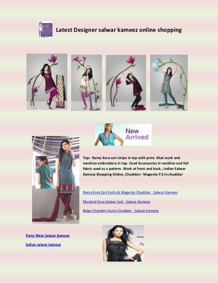 Latest designer salwar kameez online shopping
