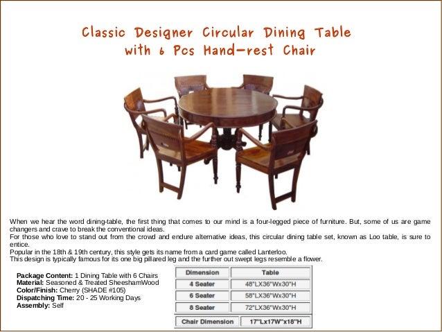 Latest Design Wooden Dining Set