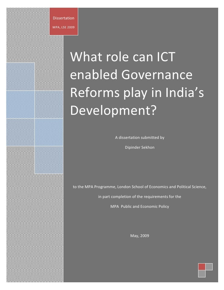 Latest Dissertation Sekhon Ict Enabled Gov Regorms Aug 2009